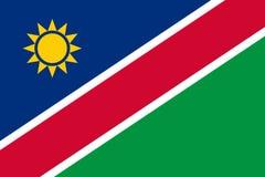 Markierungsfahne von Namibia stockfoto