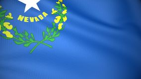 Markierungsfahne von Nevada stock abbildung