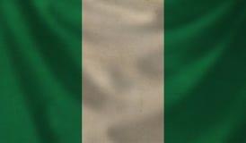 Markierungsfahne von Nigeria vektor abbildung