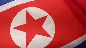 Markierungsfahne von Nordkorea stock video