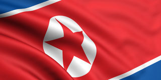 Markierungsfahne von Nordkorea stock abbildung