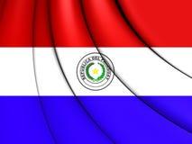 Markierungsfahne von Paraguay Stockfoto