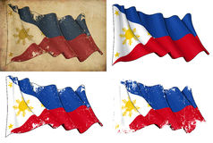 Markierungsfahne von Philippinen stock abbildung