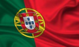 Markierungsfahne von Portugal lizenzfreie stockfotografie