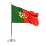 Markierungsfahne von Portugal Lizenzfreie Stockbilder