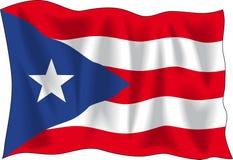 Markierungsfahne von Puerto Rico Lizenzfreie Stockbilder