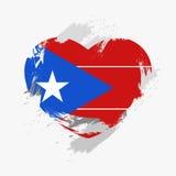 Markierungsfahne von Puerto Rico lizenzfreies stockfoto