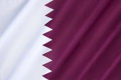 Markierungsfahne von Qatar Lizenzfreie Stockbilder