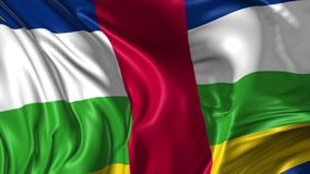 Markierungsfahne von Republik Zentralafrika stock video footage