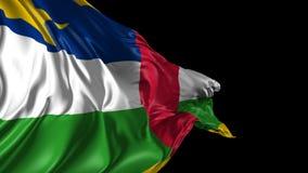 Markierungsfahne von Republik Zentralafrika stock video