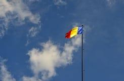Markierungsfahne von Rumänien Stockfoto