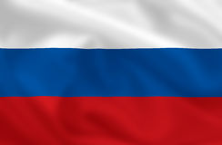 Markierungsfahne von Russland Lizenzfreies Stockfoto
