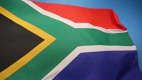 Markierungsfahne von Südafrika stock video footage