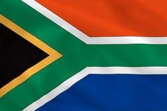Markierungsfahne von Südafrika Stockfotos
