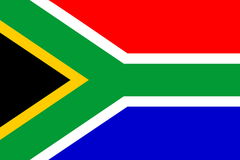 Markierungsfahne von Südafrika Stockbilder