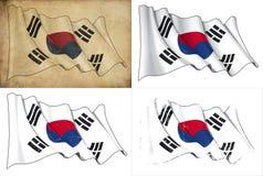 Markierungsfahne von Südkorea vektor abbildung