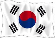 Markierungsfahne von Südkorea Lizenzfreies Stockbild