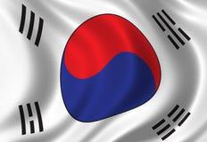 Markierungsfahne von Südkorea Lizenzfreie Stockfotografie