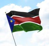 Markierungsfahne von Südsudan Lizenzfreies Stockfoto