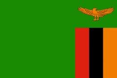 Markierungsfahne von Sambia lizenzfreie abbildung