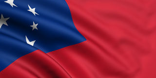 Markierungsfahne von Samoa-Inseln Stockfotos