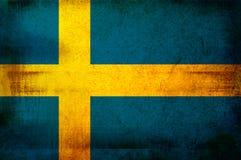 Markierungsfahne von Schweden Lizenzfreies Stockbild