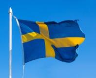 Markierungsfahne von Schweden Stockbilder