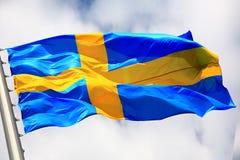 Markierungsfahne von Schweden Lizenzfreie Stockbilder