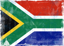 Markierungsfahne von Südafrika Lizenzfreies Stockfoto