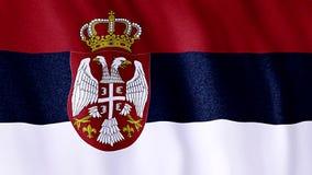 Markierungsfahne von Serbien lizenzfreie abbildung