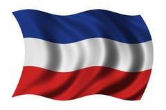 Markierungsfahne von Serbien und von Montenegro Lizenzfreies Stockbild
