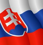 Markierungsfahne von Slowakei Stockfotografie