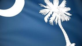 Markierungsfahne von South Carolina stock abbildung