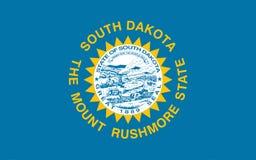 Markierungsfahne von South Dakota Lizenzfreie Stockbilder