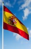 Markierungsfahne von Spanien Lizenzfreies Stockbild