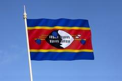 Markierungsfahne von Swasiland Lizenzfreie Stockfotografie