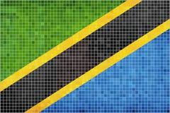 Markierungsfahne von Tanzania Stockfoto