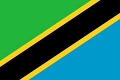 Markierungsfahne von Tanzania vektor abbildung