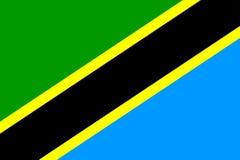 Markierungsfahne von Tanzania Lizenzfreie Stockbilder