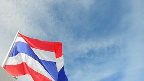 Markierungsfahne von Thailand stock video footage
