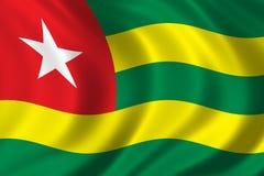 Markierungsfahne von Togo Stockfotos