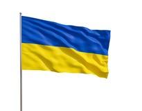 Markierungsfahne von Ukraine Lizenzfreie Stockfotografie