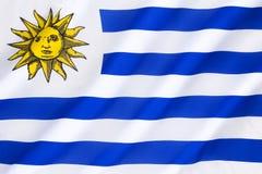 Markierungsfahne von Uruguay Lizenzfreie Stockbilder