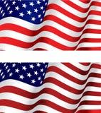 Markierungsfahne von USA stock abbildung