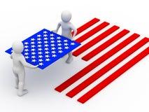 Markierungsfahne von USA. lizenzfreie abbildung