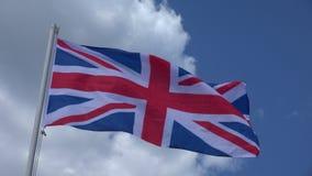 Markierungsfahne von Vereinigtem Königreich 4K stock video