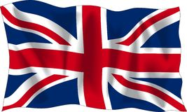 Markierungsfahne von Vereinigtem Königreich Stockfoto
