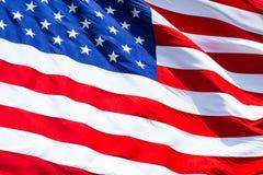 Markierungsfahne von Vereinigten Staaten Nahaufnahmehintergrund Stockfoto