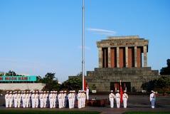 Markierungsfahne von Vietnam im Morgen Stockfotos