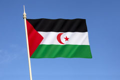 Markierungsfahne von Western Sahara Stockbild